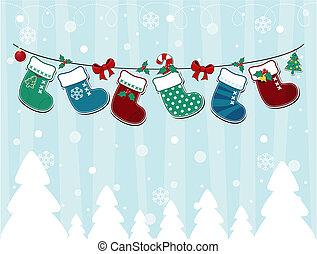 kort, jul, barnslig