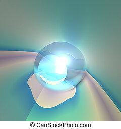 kristall, abstrakt, ögon