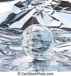 kristall, abstrakt, boll