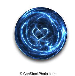 kristallkula, hjärta