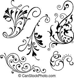 krusiduller, blommig
