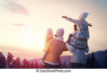 krydda, familj, vinter