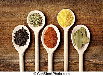 krydda, mat, krydda, ingredienser