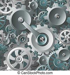 kuggar, maskin, seamless, bakgrund, utrustar