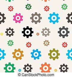 kuggar, pattern., seamless, bakgrund., vektor, utrustar