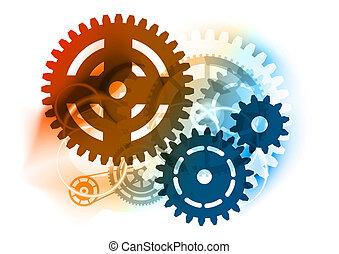 kugghjul, industriell