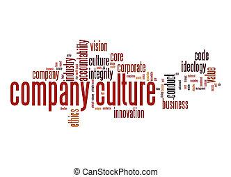 kultur, företag, ord, moln