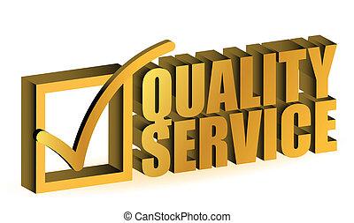 kvalitet, service