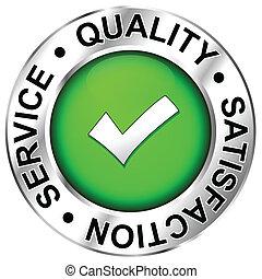 kvalitet, tillfredsställelse, service