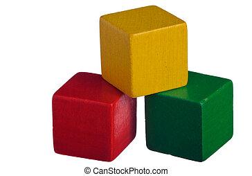 kvarter, trä, byggnad