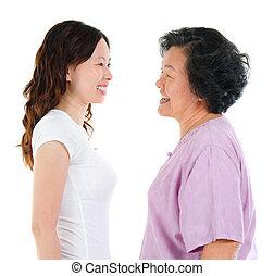 kvinna, åldras