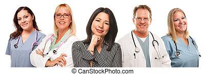 kvinna, sköterskan, hispanic, kvinnlig, doktorn, manlig, eller