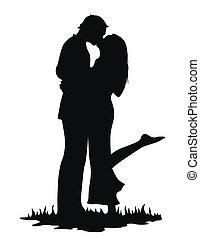 kyssande, älskarna