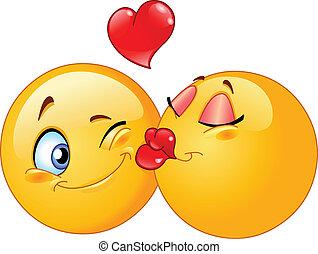 kyssande, emoticons