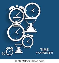 lägenhet, administration, nät, mobil, nymodig, vektor, tid, ikon