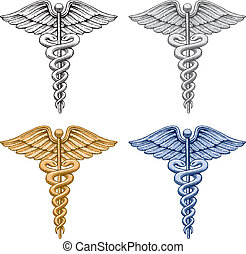 läkar symbol, caduceus