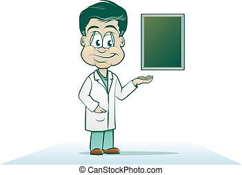 läkare, tecknad film