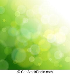 lätt, abstrakt, grön, bakgrund.