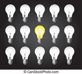 lätta glödlampor