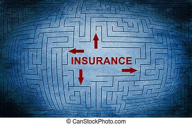 labyrint, begrepp, försäkring