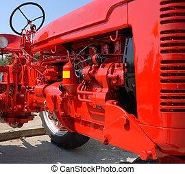 lantgård, motor, traktor