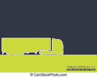 lastbil, företag, design, annonsering, bakgrund