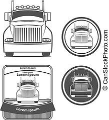 lastbil, transport, logo