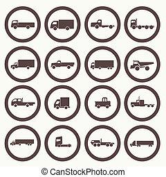 lastbil transportera, ikonen