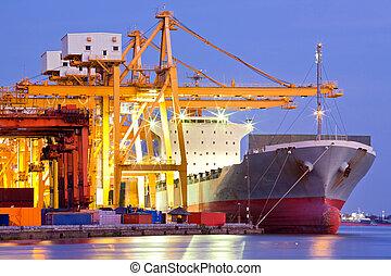 lastfartyg, industriell, behållare
