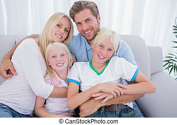 le, kamera, familj