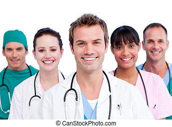 le, läkar lag, stående