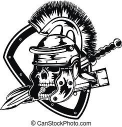 legionary, kranium, hjälm
