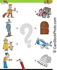 lek, lurar, objekt, män, tändsticka