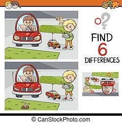 lek, skillnader, lurar