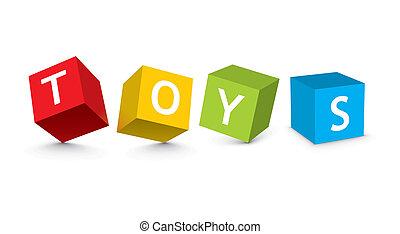 leksak spärrar, illustration