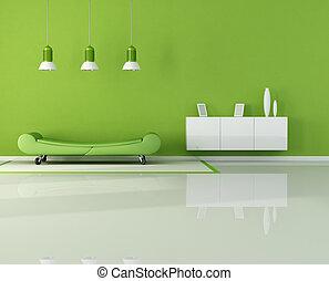 levande, grön, rum