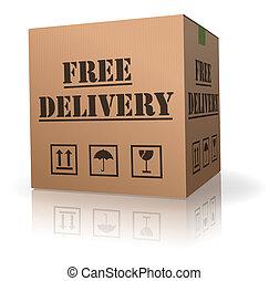 leverans, gratis, beställa, sändning, kolli