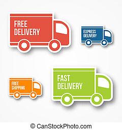 leverans, sändning, gratis