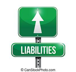 liabilities, design, väg, illustration, underteckna