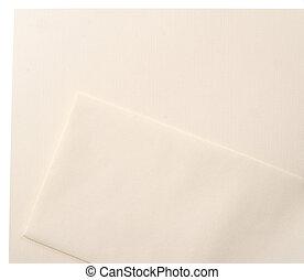linne, sätta, kuvert, brevhuvud, tom