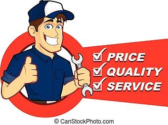 lista, mekaniker, service