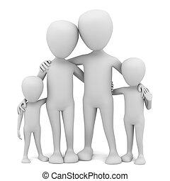 liten, family., 3, -, folk