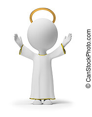 liten, gud, 3, -, folk