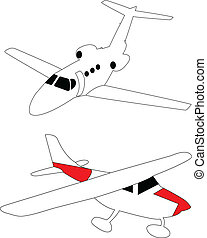 liten, lätt, airplanes