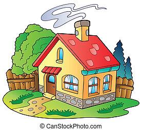 litet hus, familj