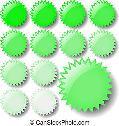 ljusgrönt, stjärna, ikonen