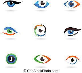 logo, ögon