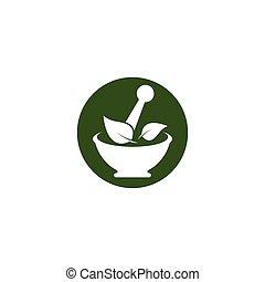 logo, ört medicin, mall