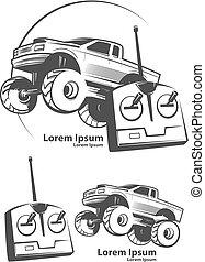 logo, bil, rc