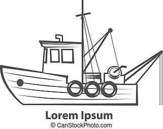 logo, fiskebåt